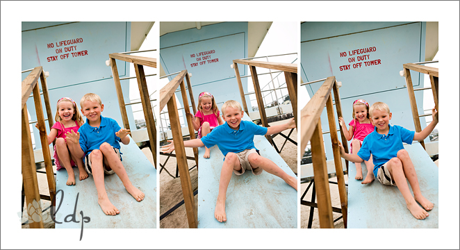 Lifeguard tower collage